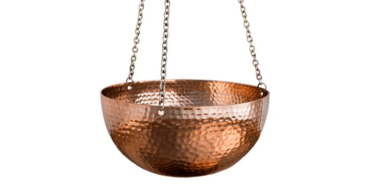 Myria Copper Large Hanging Planters