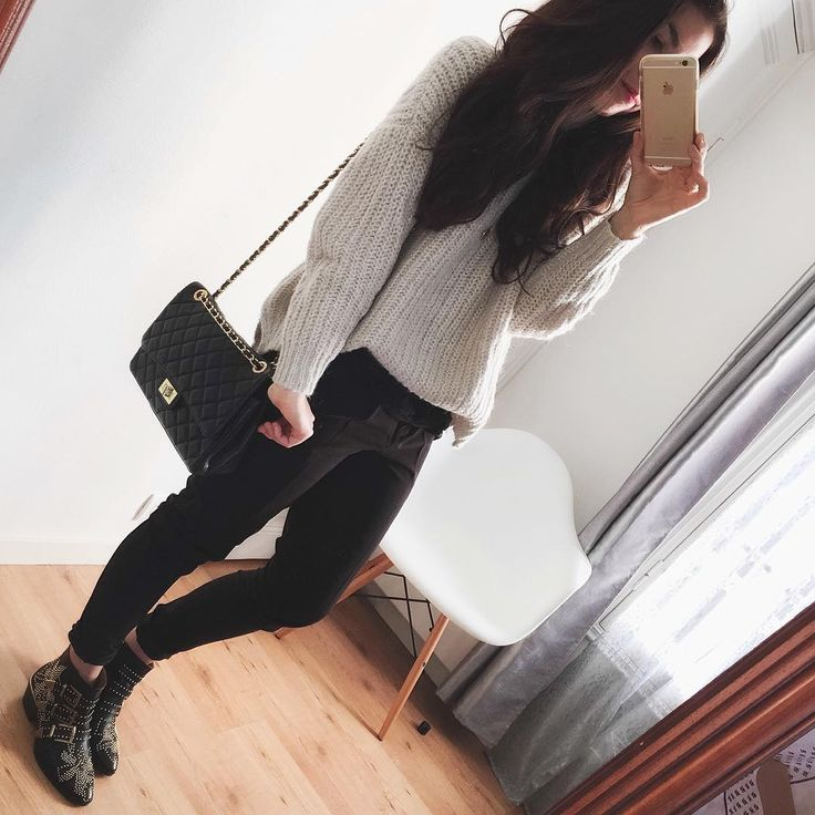 Contraste > col roulé cool et doudou / pantalon carotte ultra classe ☀️ #ootd #outfit #itscoldoutside #dailylook #tuesday #november24 #fall • pull (old) #zaraknit • pantalon (new co) #newlook #partyready • sac en cuir inspi Chanel #sansmarque #videdressing • bottines #Chloé #susannaboots