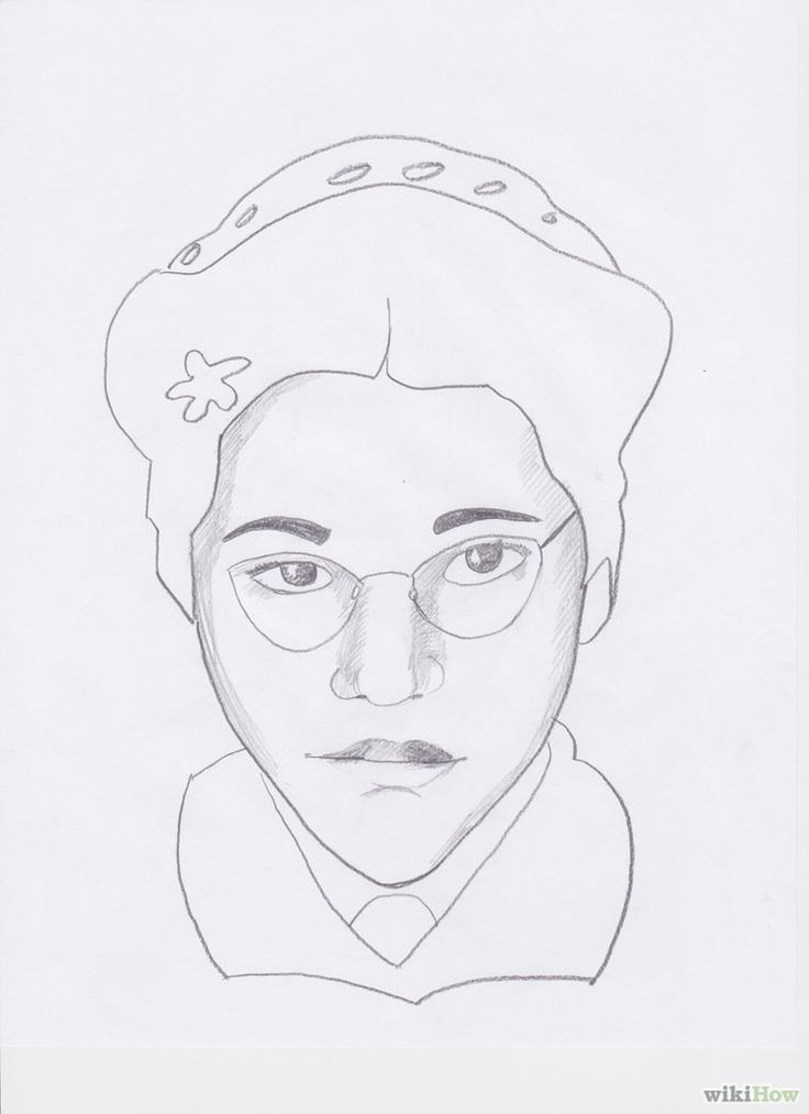 How to Draw Rosa Parks 7 Steps