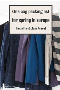 One bag packing list for spring in Europe