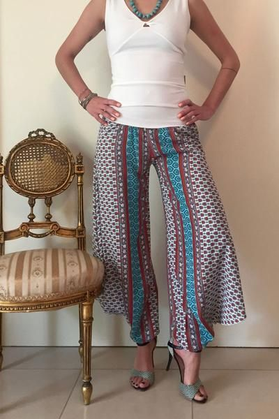 conDiva Ethnic-print Summer Tango Pants | Tango Clothes on Sale  #summer #tangopants #babucha #argentinetango #milonga