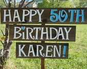 Birthday Party Yard Sign, Happy Birthday Sign, Birthday Party Decorations, 1st, 30th, 40th, 50th, 60th, Anniversary Party