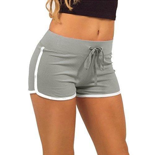 Oferta: 0.9€. Comprar Ofertas de Mine tom Mujeres Verano Ocio Deportes Pantalones Cortos Casual Pantalones Cortos Para Corriendo Yoga Formación Gris EU L barato. ¡Mira las ofertas!