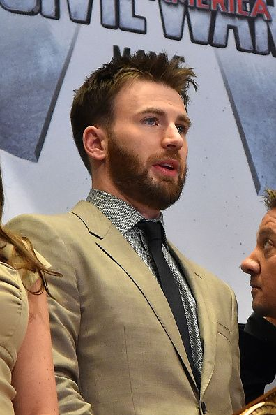 Actor Chris Evans rings The New York Stock Exchange Opening Bell To Promote Release Of 'Captain America Civil War' at The New York Stock Exchange on...