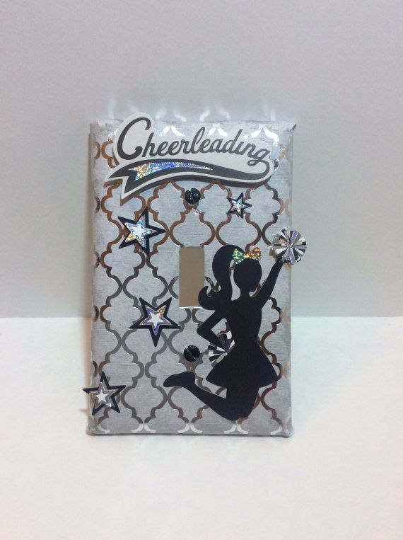 Cheerleading Light Switch Cover Decor Cheerleader Switchplate