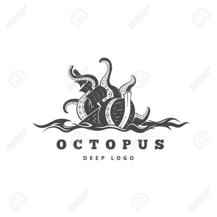 зло Кракен поглощает коммерческого парусного судна, силуэт осьминога морского чудовища с щупальцами для и футболки печать или морепродуктов этикетки талисман, концепция океана жизни, простой черный подробную иллюстрацию Клипарты, векторы, и Набор Иллюстраций Без Оплаты Отчислений. Image 64578572.