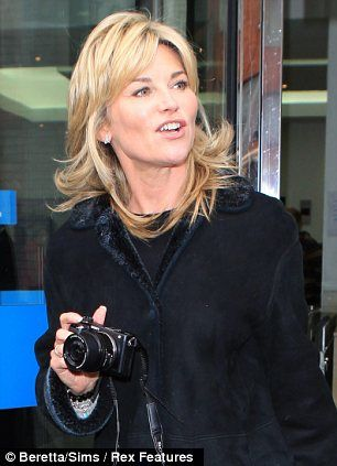 Snap happy: Anthea Turner and Beth Tweddle were also seen exiting the studios