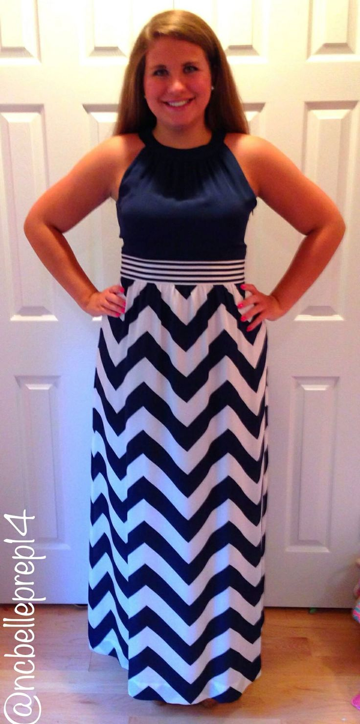 navy chevron maxi dress vineyard vines