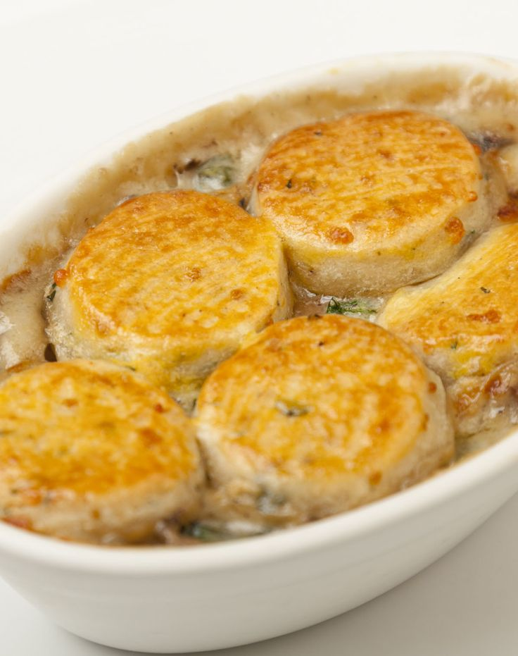 This mushroom cobbler recipe is a marvellously hearty vegetarian meal straight off the menu of Marcus Wareing's famous brasserie, The Gilbert Scott. Replace the garlic in this recipe with shredded wild garlic when in season.