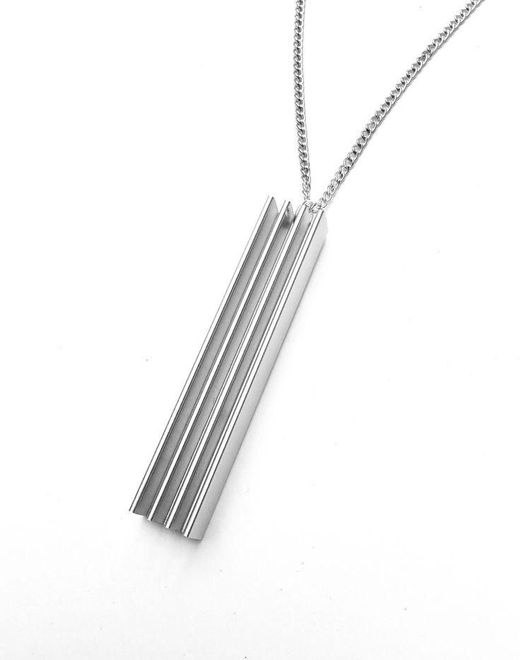 #minimalist #simplistic #pendant #necklace #jewellery #geek #technology #heatsink #tech #aluminum #geekjewelry   A personal favourite from my Etsy shop https://www.etsy.com/uk/listing/540723616/minimalist-technology-pendant-aluminum