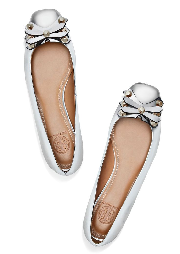 Tory Burch Aurora Metallic Flat