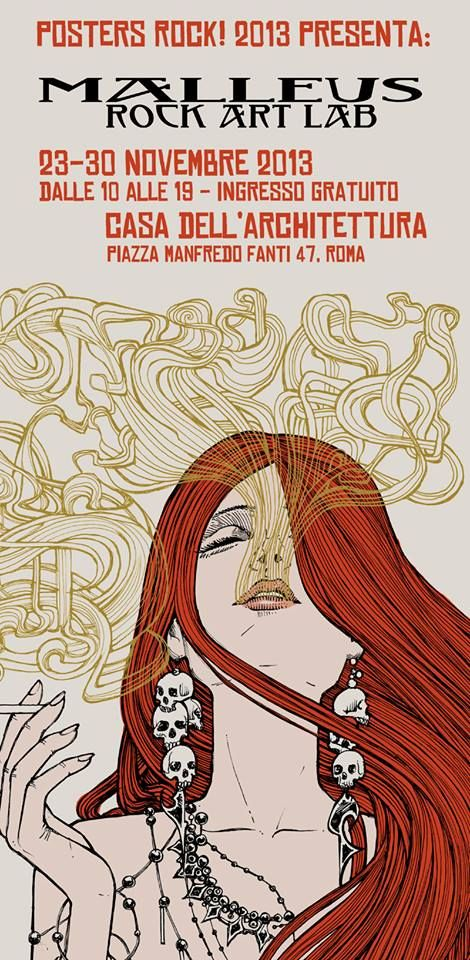 Posters Rock! Mostra di rock poster art originale a #Roma dal 23 al 30 novembre 2013
