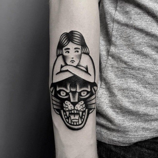 awesome Geometric Tattoo - 80 Elegant Black Panther Tattoo Meaning and Designs – Gracefulness in Every Move