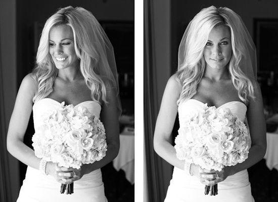 Bridal hair down style with curls