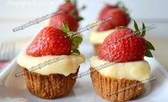 Bisküvili Muhallebili Mini Tart Tarifi Ananaslı mini tart