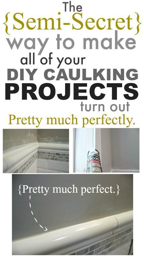 There's a really easy trick to getting nearly perfect-looking caulking on all your tiling, trim, and renovating projects that no one seems to talk about! I'm spilling the beans!