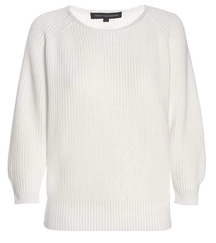 French Connection white knitted jumper