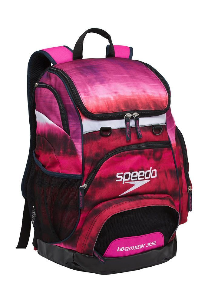 Speedo Large Teamster Backpack Swim Bag 35 L Liter Tie Dye PINK New with  Tags  7dd6da274a1ad