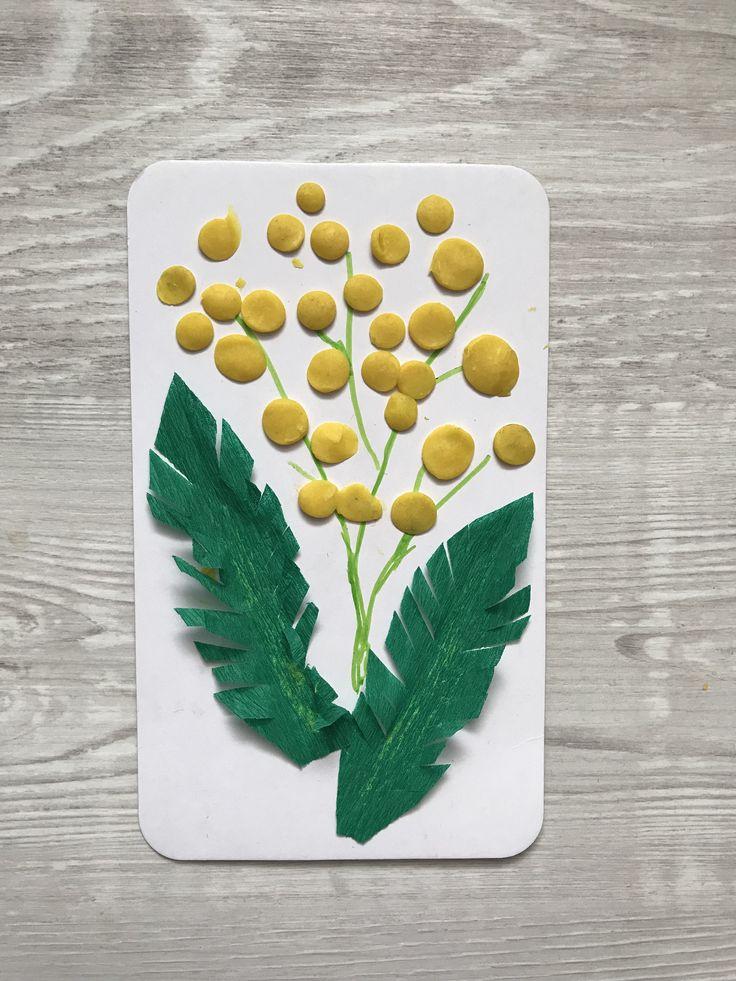 Spring craft for kids plasticine picture