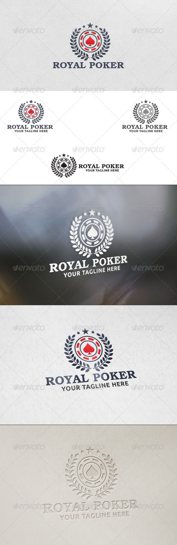 Royal Poker - Logo Template