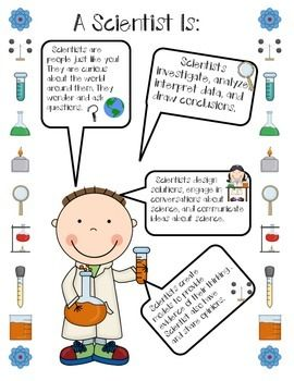 What is science and what is a scientist? Questions that get young scientists thinking. This freebie is a great way to introduce science at the beginning of a school year. Plus, a bonus A Scientist Is... anchor chart.Happy Exploring!*This freebie is a small part of the Exploring Science (A Mix Between the Old and the New) packet.