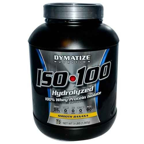 Dymatize ISO-100 100% Hydrolyzed Whey Protein Isolate Smooth Banana 5 lbs - Clearance