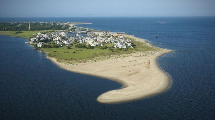 Bald Head Island Aerial--paradise shaped like a smurf hat :)