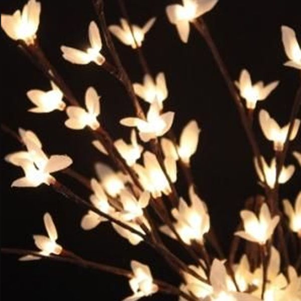 The addition of tiny lights, to graceful flowering forsythia branches makes for a stunning decorative element. Great for a year-round use, these lighted branches can easily be shaped to add a sparkle ...