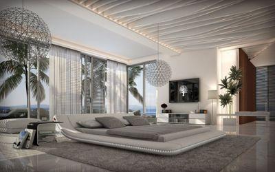 Wasserbett led  Sofa Dreams Berlin Wasserbett CUSTO LED weiss Komplett Set Jetzt ...