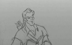"""How can you *read* this? There's no pictures!""   Gaston (""Beauty and the Beast"", 1991) 
