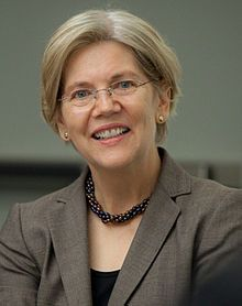 Elizabeth Warren:  the senior United States Senator from Massachusetts and a member of the Democratic Party. Warren was previously a Harvard Law School professor specializing in bankruptcy law and is an active consumer protection advocate. Her work as a national policy advocate led to the conception and establishment of the U.S. Consumer Financial Protection Bureau.
