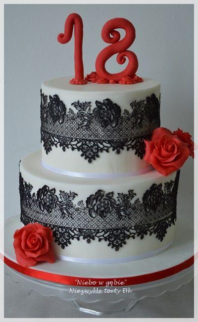 #18lat #koronka #czerwone #róże