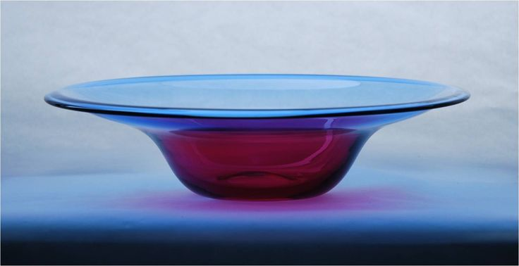 Lubomir Blecha, glass bowl from serie Sedimentica, 1957, H: 18,5; Diam: 33,0 cm, VSUP (UMPRUM) Prague, glassworks Skrdlovice, Czechoslovakia