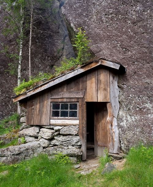 """Moldhuset (literally """"the earth/soil house""""), a mountain cabin in Vikedal, Norway built by Ole Fatland. Contributed by Ole's grandson, Johannes Grødem."""