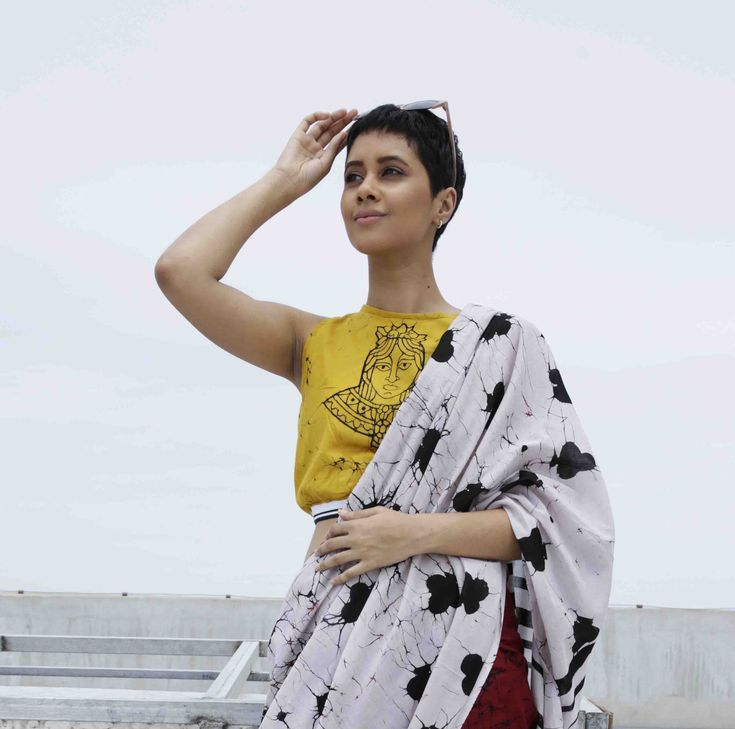 The Wild Card . Collection . Hand Crafted . Batik . Saree