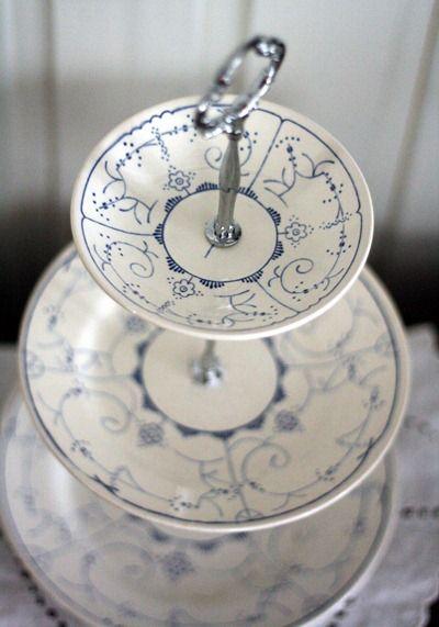 Hvordan lage et etasjefat http://www.prinsessevilikkeshus.blogspot.no/2013/04/diy-hvordan-lage-et-etasjefat.html