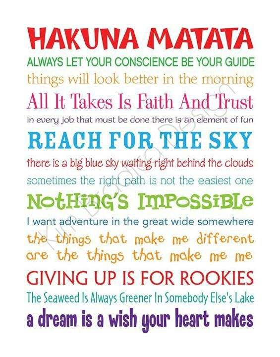 Hakuna Matata | quotes | Pinterest