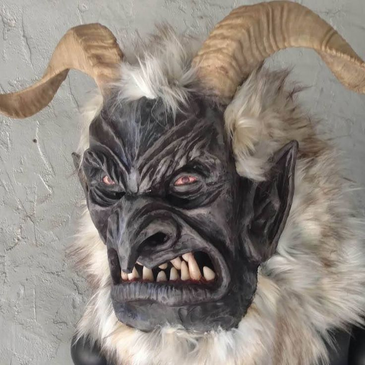 Krampus mask by Rev. Al Ridenour