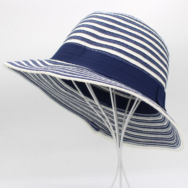 2017 VIVI Fashion Summer Striped Sun Hats For Women Straw Women's Cap Ladies UV Protection Visor Beach HT51166+10