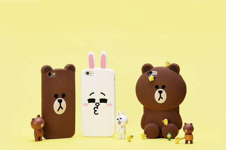 Play on the phone! :) More touching, more pleasing. LINE FRIENDS silicone case. LINE FRIENDS MEGA BROWN / CONY Character Silicone Case Cover For Apple iPhone 6 #LINE #LINEFRIENDS #BROWN #CONY #phonecase #iphone #cute #iphone6 #smartphone #siliconecase #MegaBrown