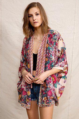 Americano Jaqueta Vintage Boho Kimono