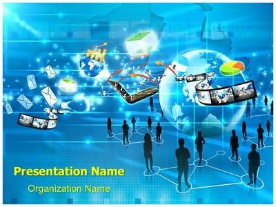 23 best images about social networking powerpoint for Social networking sites free templates download