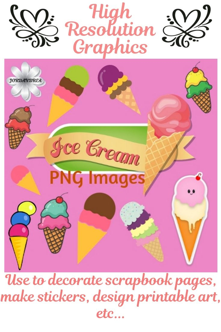 Cute Ice Cream Png Image Clipart Set With Unlimited Personal Etsy Clip Art Png Images Website Design