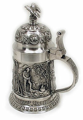 I want to drink from a beer stein in a German bar
