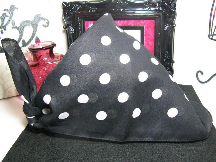 New Black & White Polka Dot Design Cotton Bandana Hair Wrap Head Wrap Scarf | Clothing, Shoes & Accessories, Women's Accessories, Scarves & Wraps | eBay!
