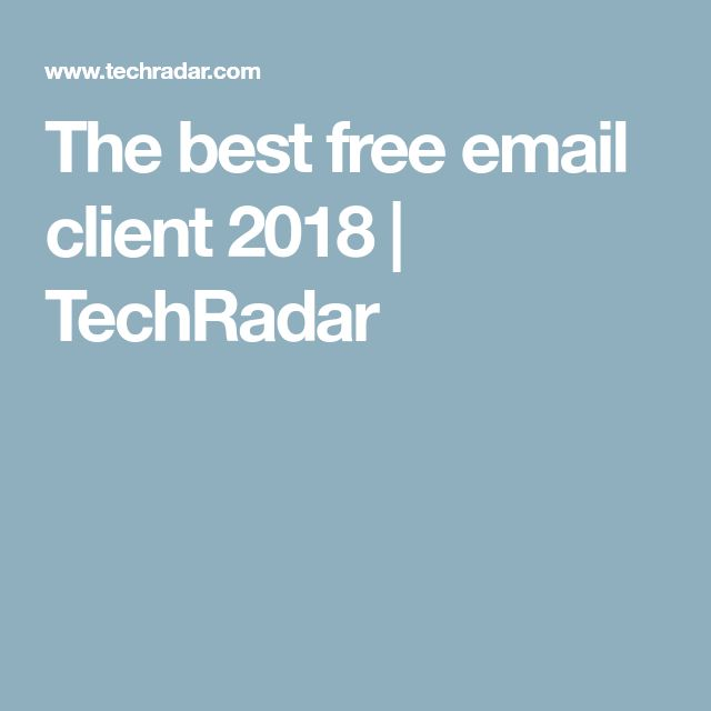 The best free email client 2018   TechRadar