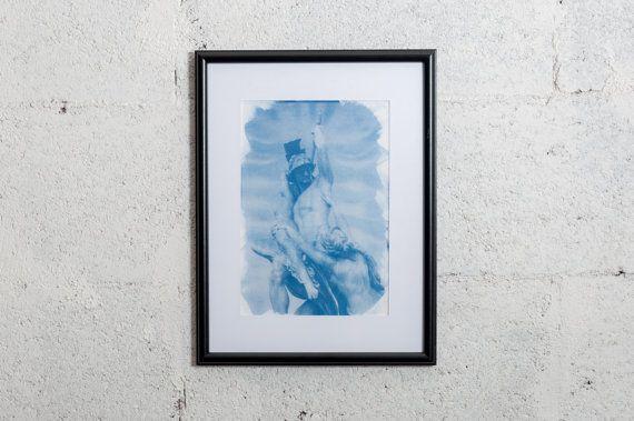 Florence's romanticism sculpture  #cyanotype #print #art #artdeco #walldeco #cottagedeco #architecture #italy #madeinitaly #sculpture #florence