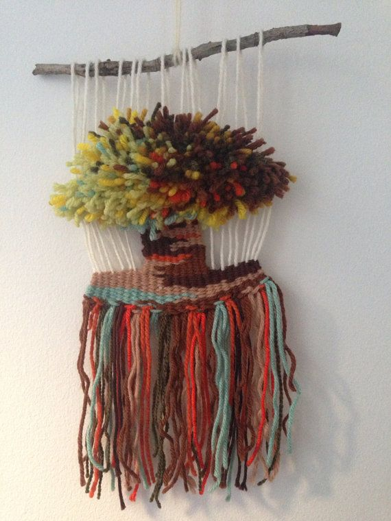 Christmas sale: Woven wall hanging ornament - Tree