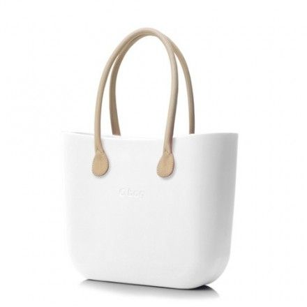 decovry.com - Fullspot | O bag naturel lederen handvaten | Wit