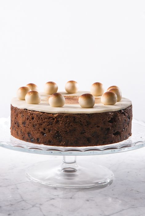 Simnel cake is a delicious fruit cake traditionally eaten at Easter time in Britain. Sally toasts the marzipan with a blowtorch just before serving to give the cake a golden finish. If you don't have access to a blowtorch, you could place the cake under a grill for a similar effect.